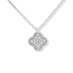 Sweet van cleef replica Alhambra white gold pendant