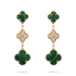 Magic van cleef Replik Alhambra gelbes Gold Ohrringe