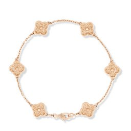 Sweet replique Van Cleef & Arpels Alhambra bracelet or rose 6 motifs s