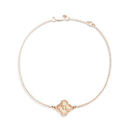 Sweet replique Van Cleef & Arpels Alhambra or rose bracelet 1 motifs