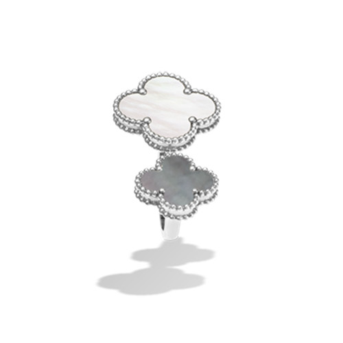 Magic copy Van Cleef & Arpels Alhambra Between the Finger white gold Ring white gold