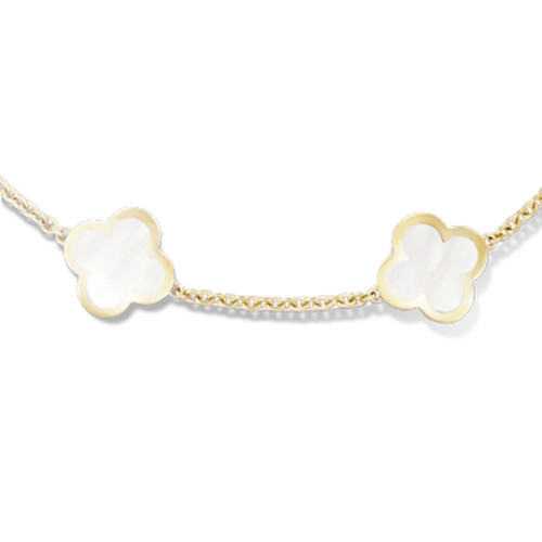 Pure imitation Van Cleef & Arpels Alhambra bracelet yellow gold 4 motifs mother-of-pearl