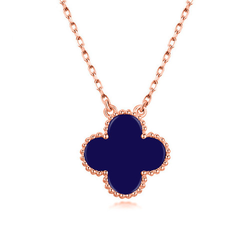 Vintage van cleef fake Alhambra pink gold Blue