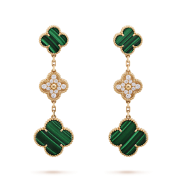 Magic van cleef replica Alhambra yellow gold earrings